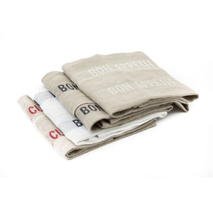 Bon Appetit Tea Towel - White/Natural - CRAVE WARES