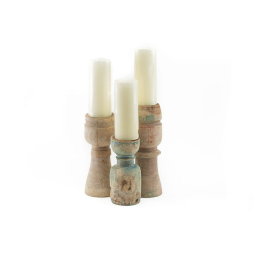 Wooden Candle Sticks - CRAVE WARES