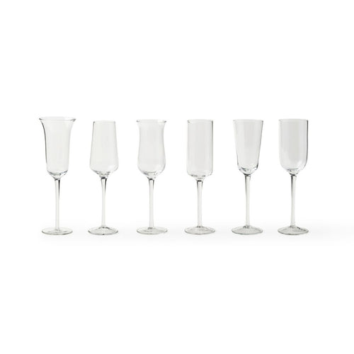 Diseguale Champagne Flutes - Clear - Set of 6