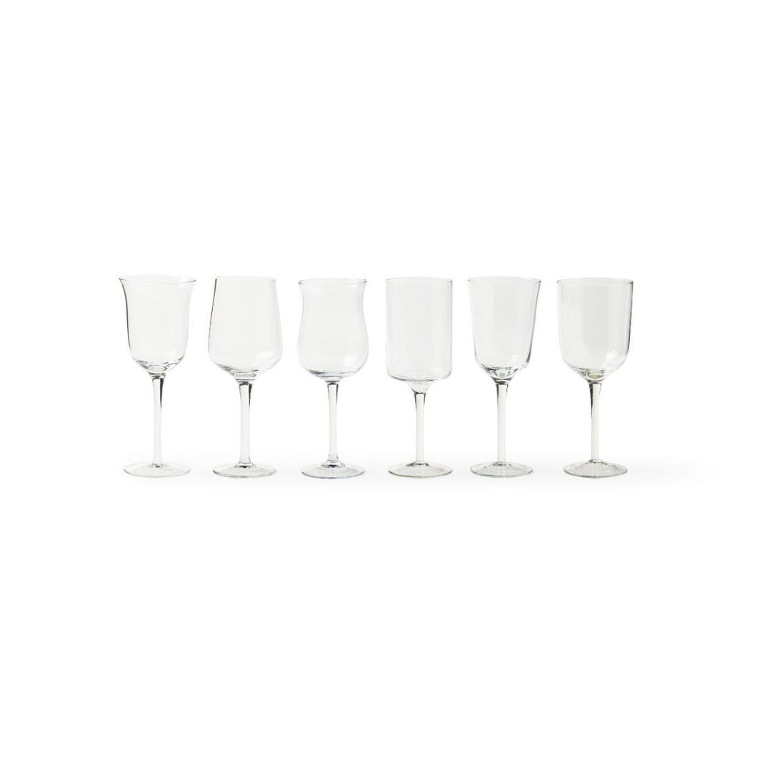 Diseguale Wine Goblet - Clear - Set of 6