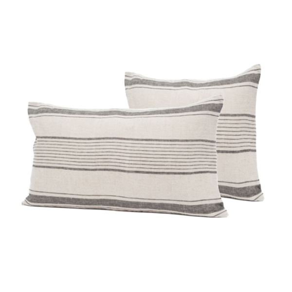 Thick Stripe Linen Cushion