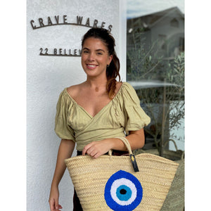 Evil Eye Souk Basket