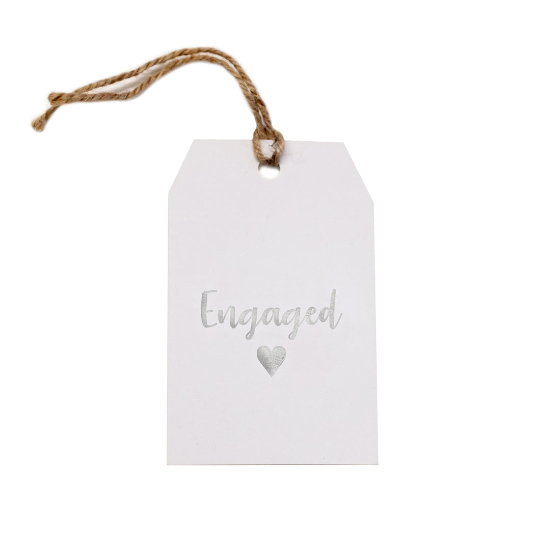 Gift tag - Engaged - Silver Foil - CRAVE WARES