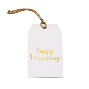 Gift tag - Happy Anniversary - Gold Foil