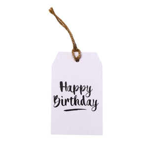 Gift tag - Happy Birthday - Black