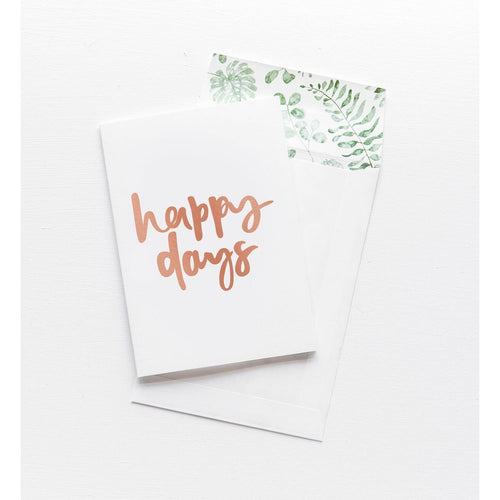 Greeting Card - Happy Days - CRAVE WARES