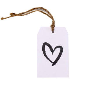 Gift tag - Heart - Black
