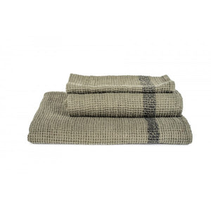 Antibes Linen Towels - Khaki