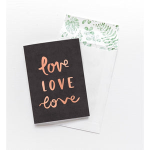 Greeting Card - Love Love Love