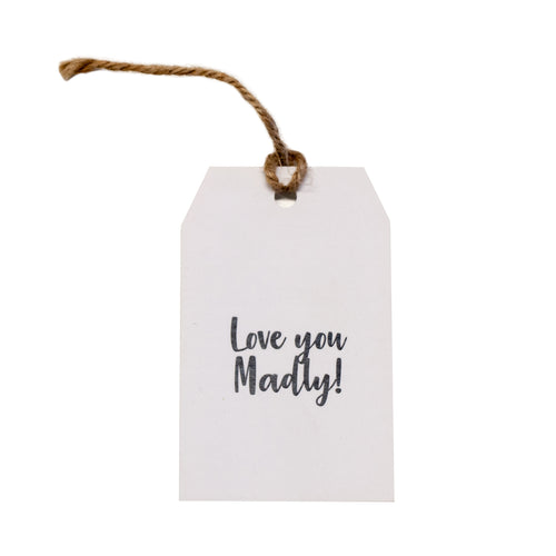 Gift tag - Love You Madly - Black