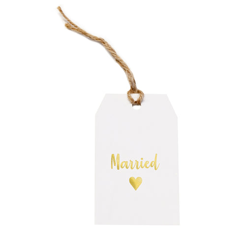 Gift tag - Married - Gold Foil