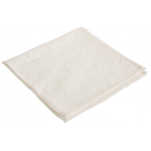 Soft Linen Serviettes - White