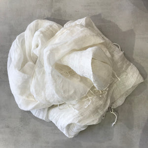 Linen Scarf - Natural White