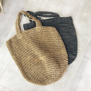 Crocheted Jute Tote Bag - CRAVE WARES