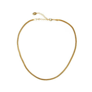 Sloane Gold Snake Chain Necklace - Long