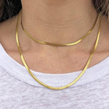 Sylvia Gold Snake Chain Necklace - Long
