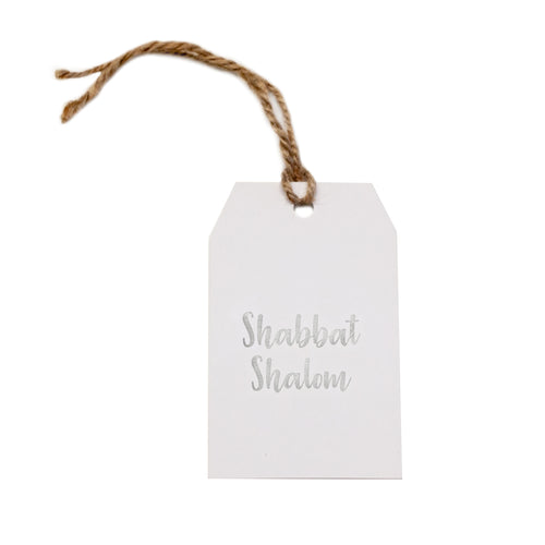 Gift tag - Shabbat Shalom - Silver Foil - CRAVE WARES