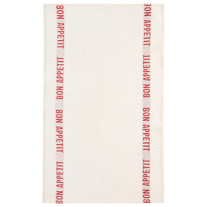 Bon Appetit Tea Towel - White/Red