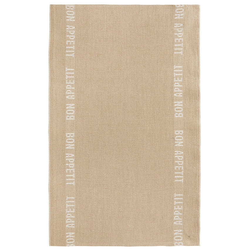 Bon Appetit Tea Towel - Natural/White