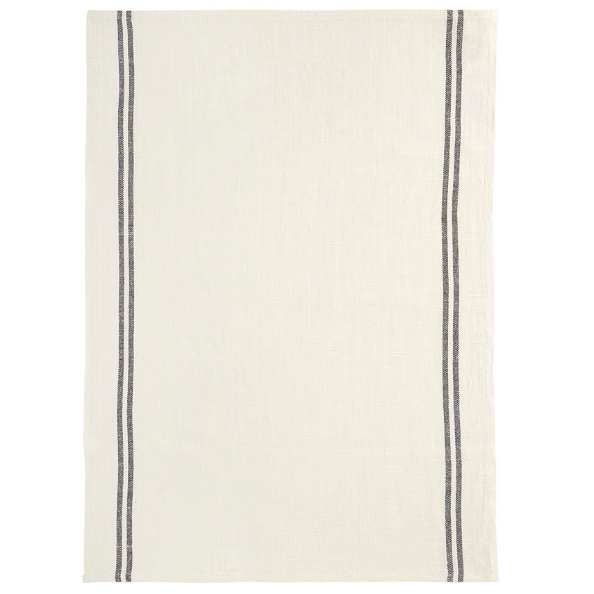 Country Tea Towel - White/Black