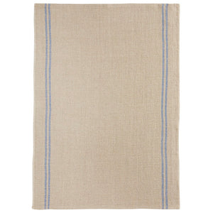 Country Tea Towel - Natural/Blue