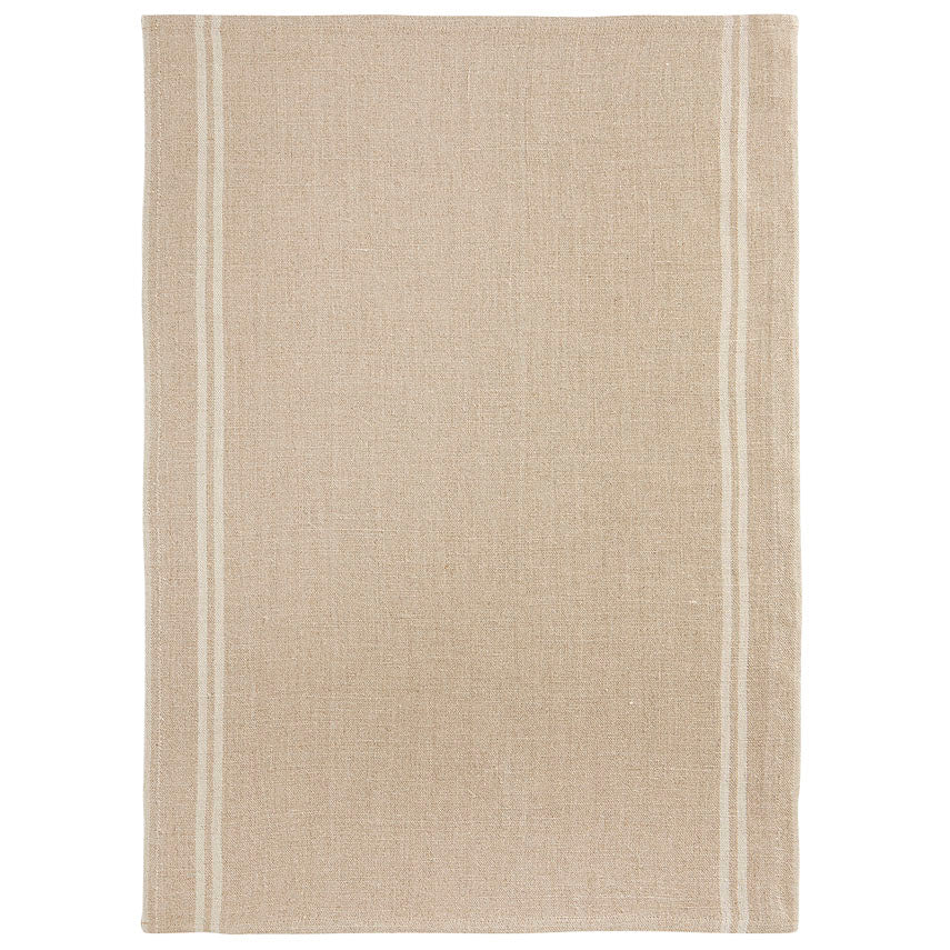 Country Tea Towel - Natural/White