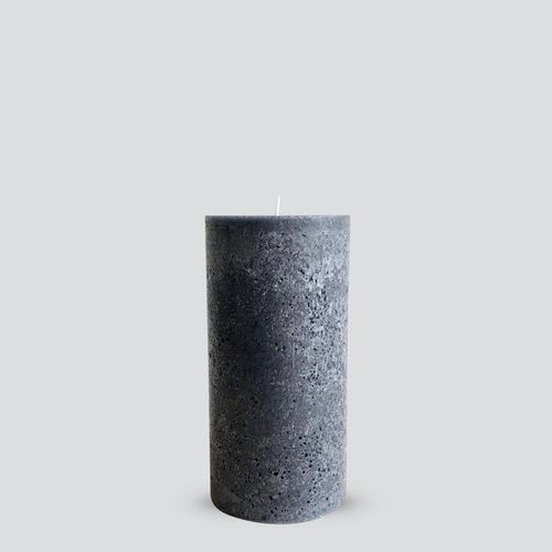 Grey Textured Candle - Medium