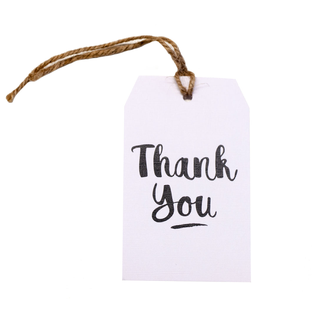 Gift tag - Thank You - Black