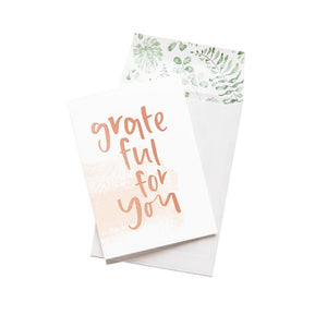 Greeting Card - Grateful For You - CRAVE WARES