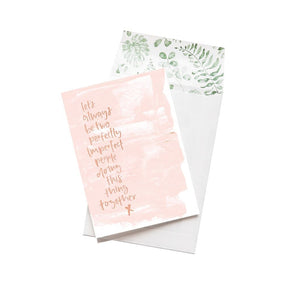 Greeting Card - Doing This Thing Together