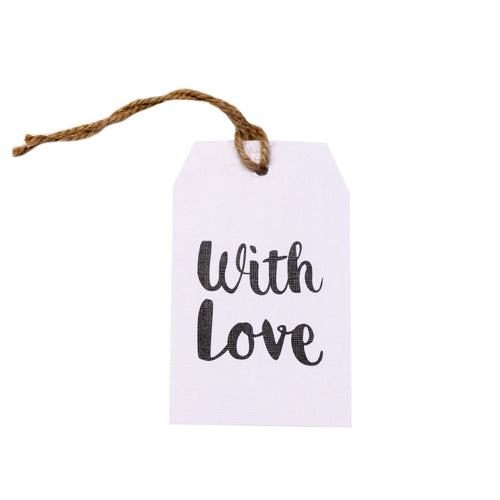 Gift tag - With Love - Black