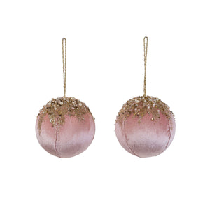 Princess Glitter Bauble - Pink, Gold & Pearl