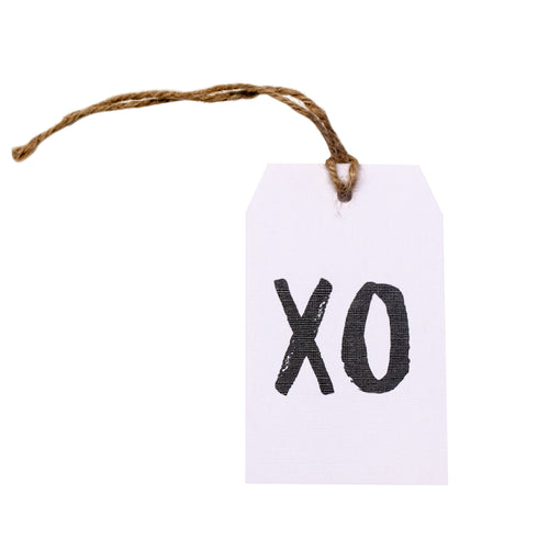 Gift tag - XO - Black