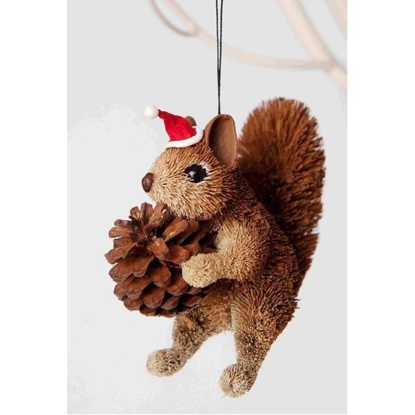 Christmas Squirrel.Brown Squirrel Christmas Decoration
