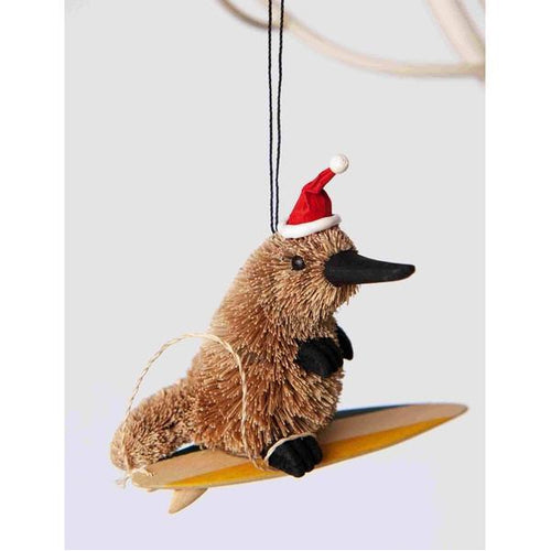 Surfing Platypus - Christmas Decoration