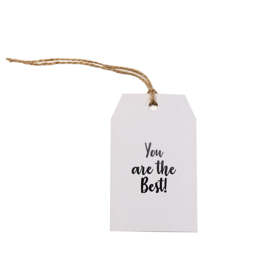 Gift tag - You Are The Best - Black