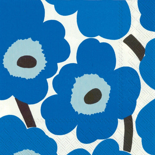 Disposable Lunch Napkin - Unikko Blue