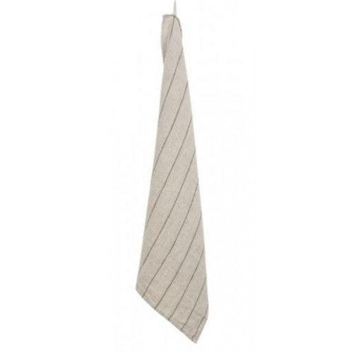 Minimal Stripe Tea Towel - Natural