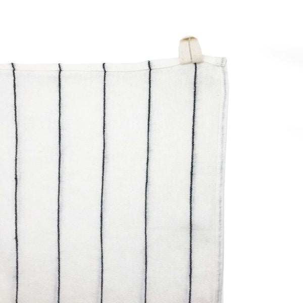 Minimal Stripe Tea Towel - White