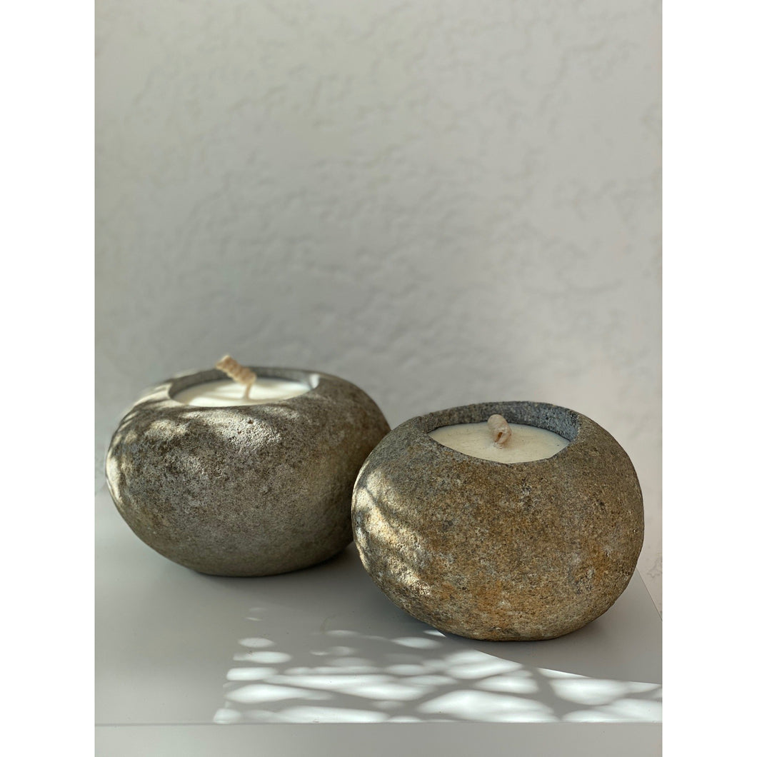 Stone Outdoor Candles