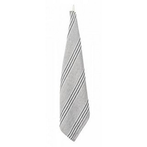 3 Stripe Tea Towel - Grey