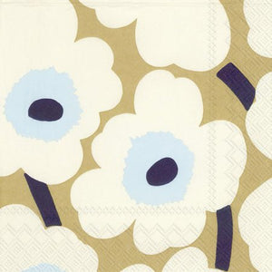 Disposable Lunch Napkin - Unikko Cream Gold
