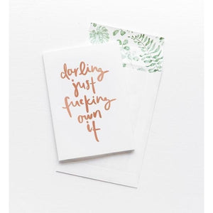 Greeting Card - Darling Own It