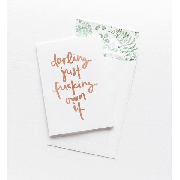 Greeting Card - Darling Own It - CRAVE WARES