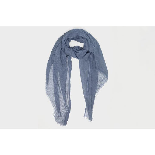 Linen Oversized Scarf - Dusty Denim