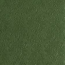 Disposable Dinner Napkin - Elegance Dark Green