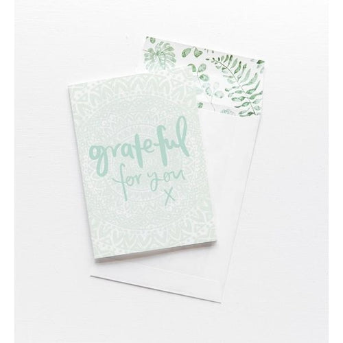 Greeting Card - Grateful For You
