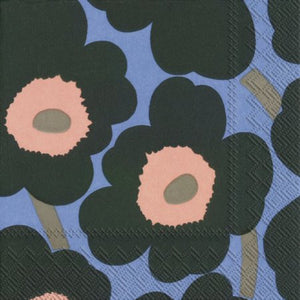 Disposable Lunch Napkin - Unikko Green Blue
