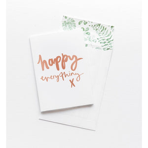 Greeting Card - Happy Everything