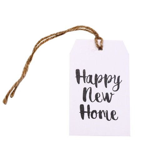 Gift tag - Happy New Home - Black